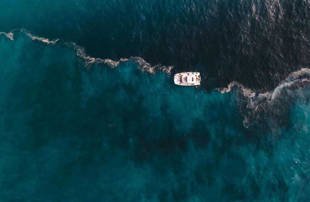 牛奶海SUP遊艇交界處
